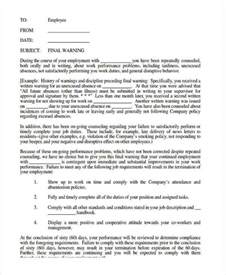 letter before template 8 warning letter template 8 free word pdf