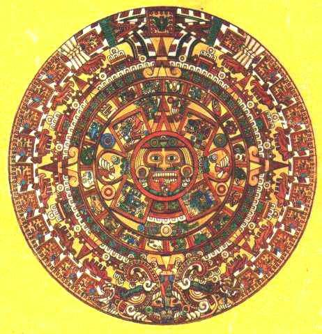 imagenes calendario azteca imagenes del calendario azteca dibujo a color de la