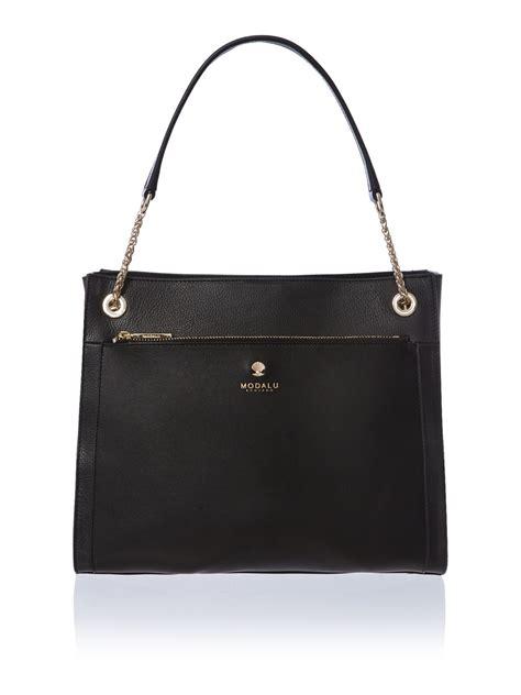 Chain Tote Bags Black modalu clara black chain tote bag in black lyst