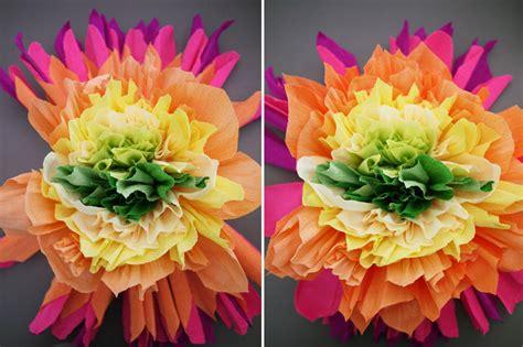 How To Make Big Flowers Out Of Crepe Paper - s 227 o jo 227 o flores de papel crepom lojas linna