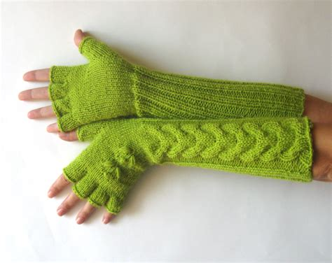 knitting pattern gloves with fingers knit pattern for long cherry flower gloves with half