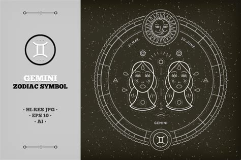 gambar icon zodiak gemini 187 designtube creative design content