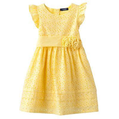 Dress Whitemellow chaps eyelet dress toddler lemony sweet yellow