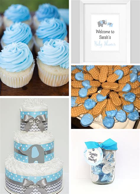 Baby Shower Elephant Ideas by Inspirations Blue And Gray Elephant Baby Shower Sweet