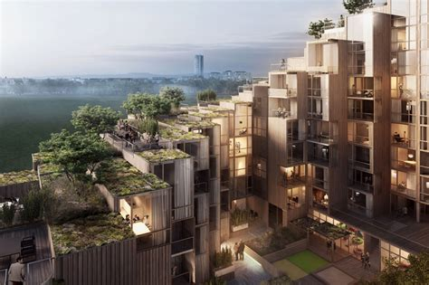 sustainable apartment design step by green roofed step terraced apartment tower offers