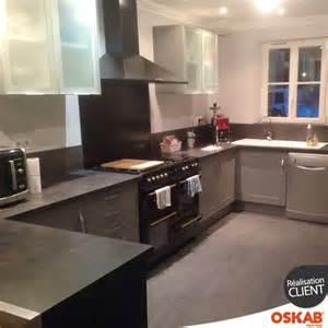 cuisine 233 quip 233 e grise bois moderne filipen gris mat