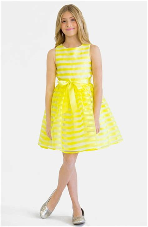 Wn Dress Trily Yellow Scuba fashion gorgeous kentucky derby dresses for big ages 7 10 2015 style