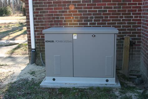 kohler 20kw generator with an aluminum enclosure installed