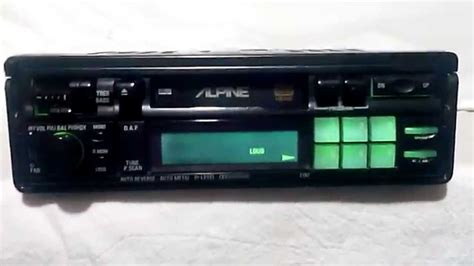 cassette car vintage alpine 7192 am fm cassette car stereo