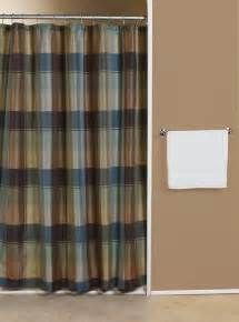plaid blue green fabric shower curtain curtain bath outlet