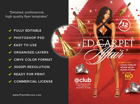 flyer template red red carpet flyer template flyerheroes
