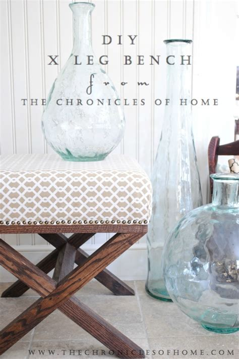 diy x bench tutorial for diy x leg upholstered bench