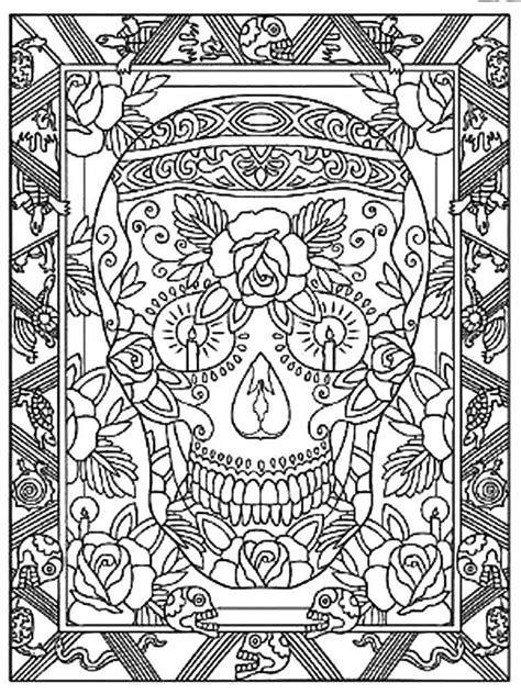 dia de los muertos coloring pages for adults dia de los muertos coloring pages for adults free