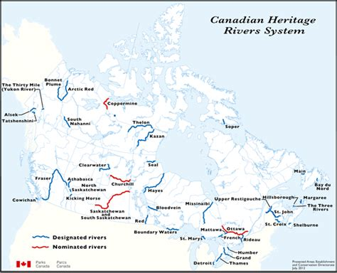 canadian map rivers map canadian heritage rivers system canada s national