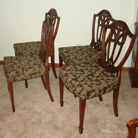 duncan phyfe dining room set pedestal table chairs