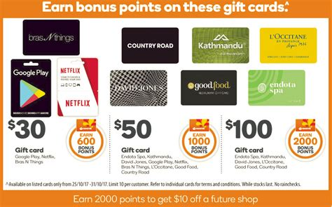 Red Balloon Gift Card Woolworths - expired 10 through bonus reward points on google play netflix bras n things gift