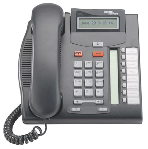 Reset Voicemail Password Nortel T7208   nortel t7208 six line telephone with 8 programmable