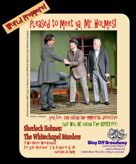 whitechapel the stand of sherlock books productions by way broadway community players ctx