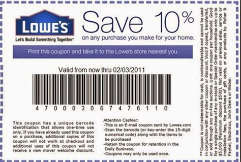 lowes hardware retail coupons coupon codes