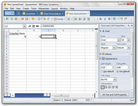 Lotus Spreadsheet by Ibm Lotus Symphony Without Registration