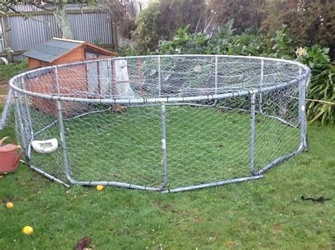 Pvc Boden Coop by Our New Chicken Run Yes That Is Our Troline Frame