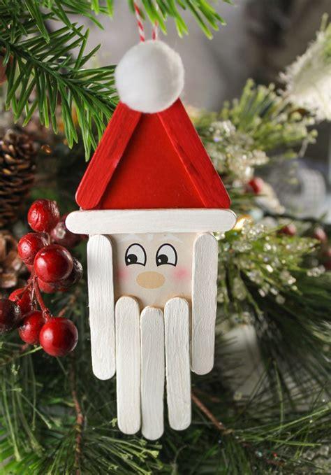 popsicle stick santa christmas craft  kids