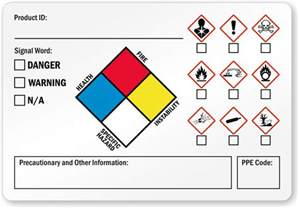 Ghs Sds Template by Ghs Labels Secondary Ghs Labels