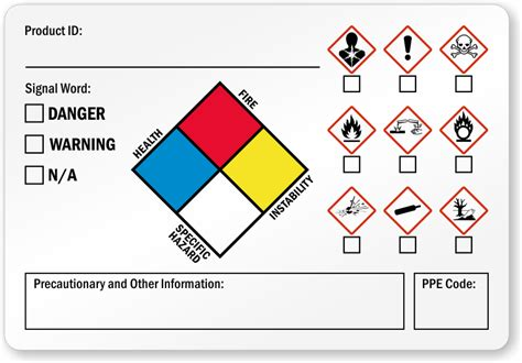 Ghs Labels Secondary Ghs Labels Msds Label Template