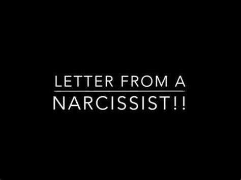 up letter to narcissist letter from narcissist