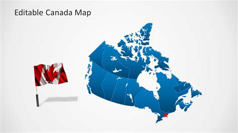free editable map of usa and canada editable canada map template for powerpoint slidemodel