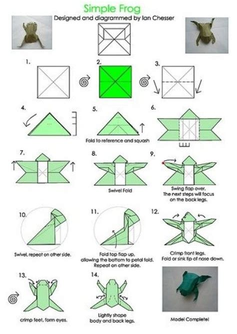 Learn Origami Make A Paper Frog - 17 best images about holidays leap day on