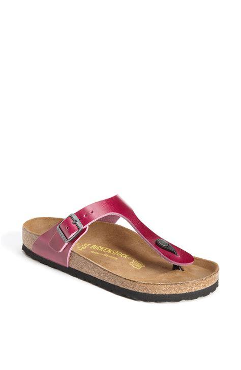 gizeh sandal birkenstock gizeh sandal in pink orchid lyst
