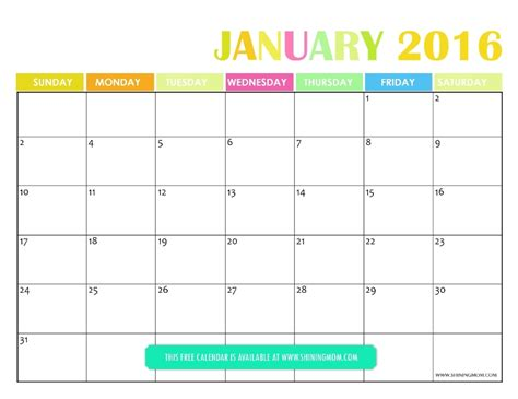 printable planner for january 2016 all lovely free printable january 2016 calendars