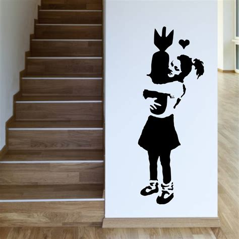 banksy wall stickers uk learn to banksy wall sticker by mirrorin notonthehighstreet