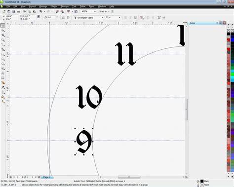 clock template corel easy clock faces for imprinting using coreldraw method 1