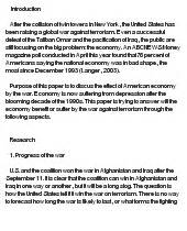 War On Terrorism Essay by Will American Economy Benefit From The War Against Terrorism At Essaypedia
