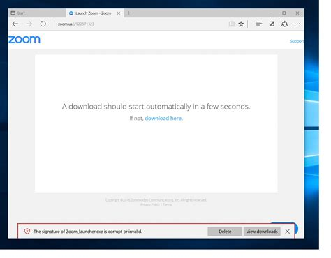 install windows 10 edge zoom install via edge on windows 10 zoom