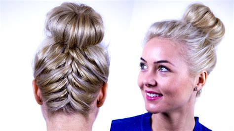 upside down v haircuts upside down french braid updo tutorial become gorgeous