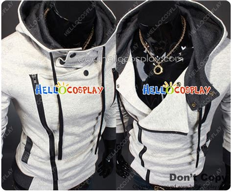 Jaket Anime Onepiece E 16 assassin s creed jacket with costume light gray