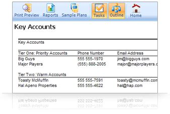 Create And Manage A Professional Sales Plan Palo Alto Software Key Account Plan Template Free