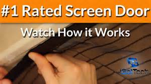magnetic screen door magic mesh screen doors
