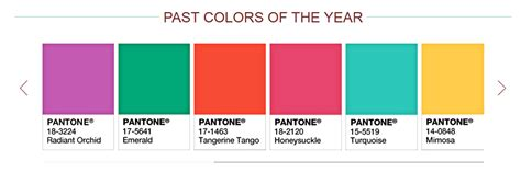 pantone colors of the year list pantone s color of the year marsala the mystic wave