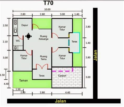 gambar rumah minimalis denah dan model rumah minimalis type 70 terbaru 2015