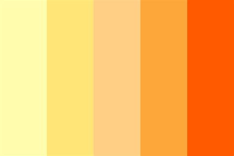 orange color schemes gold orange color palette