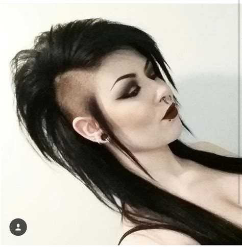 gothic hairstyles ideas  pinterest gothic
