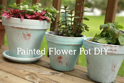 homemade flower pots my distressed painted flower pot diy april bern