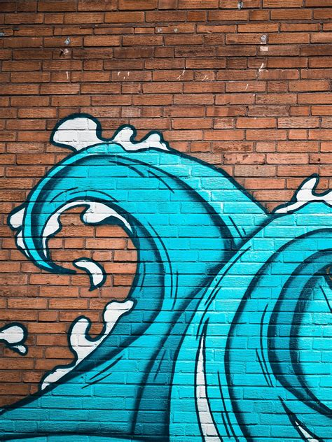 wallpaper graffiti portrait ocean waves street art wallpaper mobile desktop background