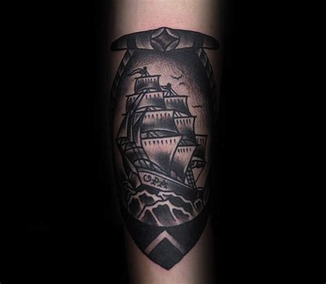 black and grey tattoos old school 60 traditional ship tattoo designs for men nautical ink