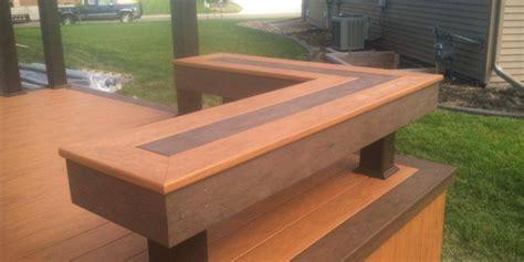 decking benches composite deck bench with dark inset pattern cedar deck