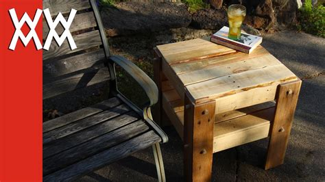 diy rustic side table    pallets youtube